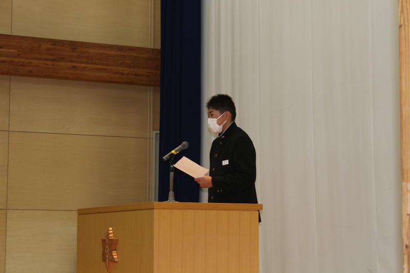 R3.1.12 始業式 生徒会代表挨拶
